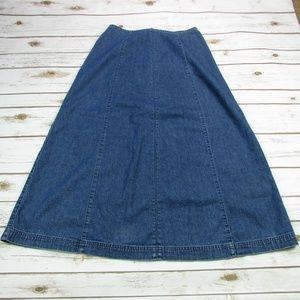 Liz Claiborne Lizwear Jeans Long A Line Skirt 8